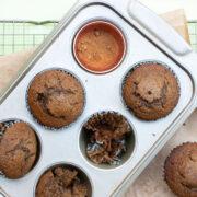 Chocolate Chunk Gingerbread Muffins