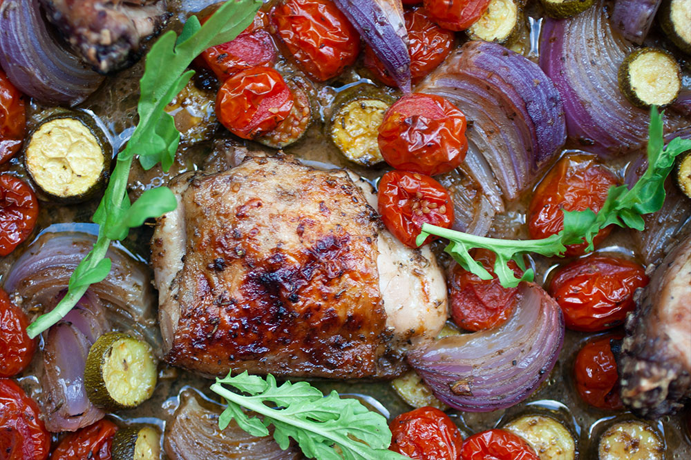 Italian Balsamic Chicken Tray Bake from The Great Thermo Meal Prep