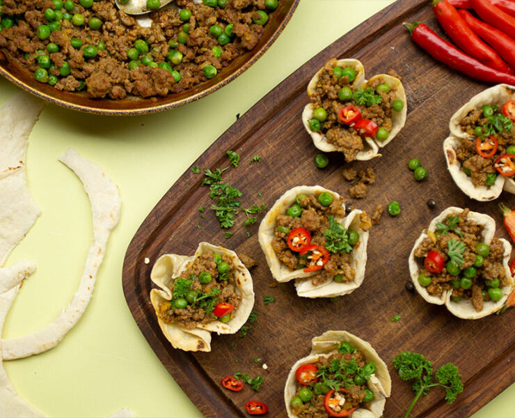 Spicy Keema Cups from All Sorts of Tapas