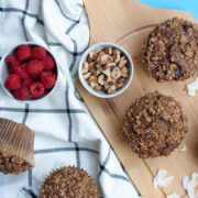 Vegan Muffins with Cinnamon and Walnuts from Made with Love and Plants