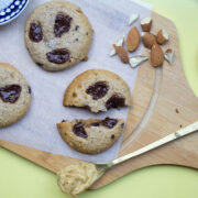 Chewy Chocolate Chip Almond Butter Cookies