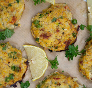 Gem Squash Fish Cakes from The Flexitarian Foodie