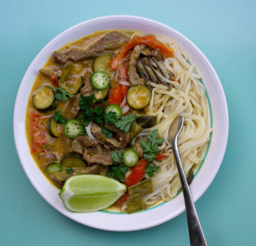 Thai Red Beef Stir-Fry Curry from Curried