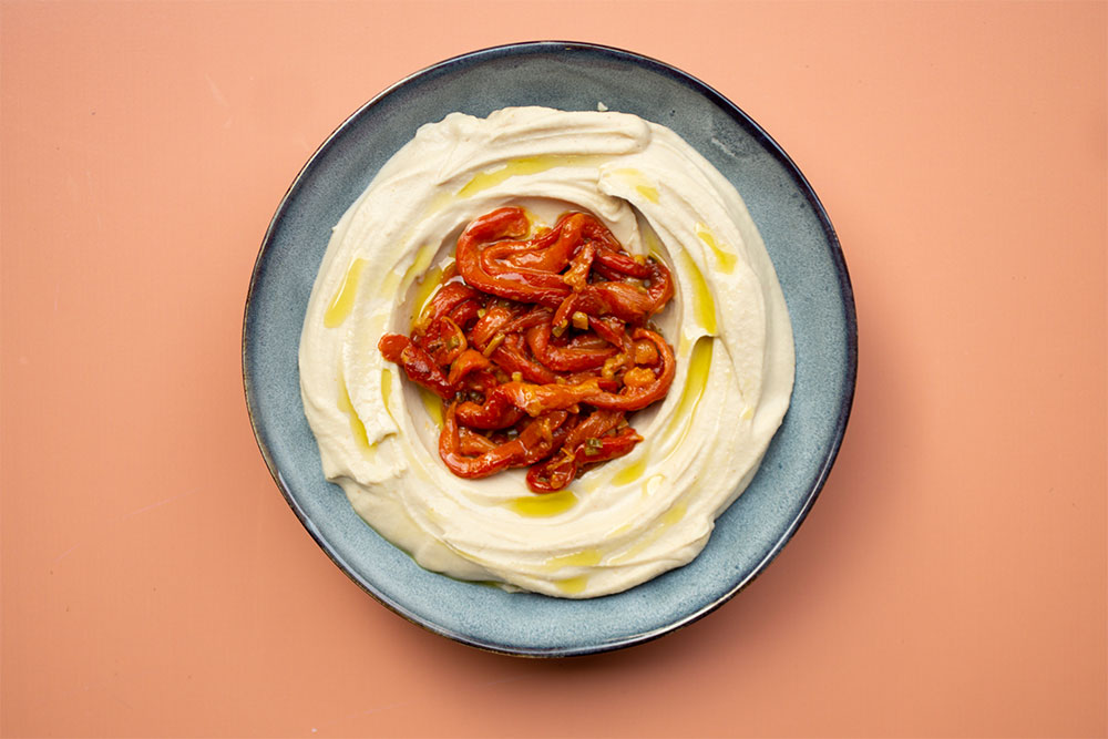 White Bean Dip with Roasted Red Pepper
