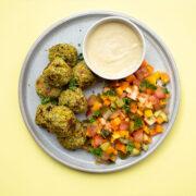Quick & Easy Falafel Salad